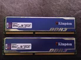 Kingston DDR3 1600MHz Desktop Memory 2x2GB