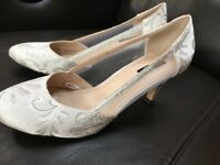 Ivory/white Bridal shoes size 5