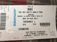 Drake Ticket Standing