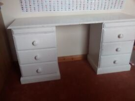 Painted pine dressing table
