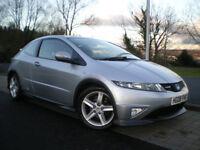 Honda Civic 2.2 i-CTDi Type S Hatchback 3dr * ONLY 79K * 12 MONTHS MOT * 3 Months WARRANTY