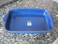 Denby Imperial Blue Oblong Large Serving / Roasting Dish *BRAND NEW WITH LABELS*