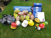 Rugby coaching kit