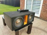 JBL SUBWOOFER + RE AUDIO AMPLIFIER LOUD SUBWOOFER BASS QUICK SALE