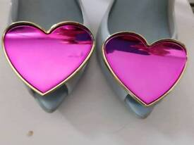 Vivienne Westwood size 7 loveheart mirror shoes
