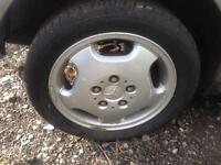 Mercedes A Class w168 15 inch alloy wheels With Tyres. 195/50/15. A160 A140 A170 A190.