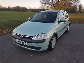 VAUXHALL CORSA 1.4i 16V, 5dr AUTOMATIC with MOT until 18 May 2017 in Green. Not Fiesta or Clio.