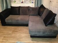 Corner sofa for sale immaculate condition apart from small mark smoke free home available in 3 weeks