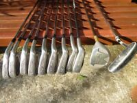 Set of nine irons. Plus 5 wood and putter thrown in for free