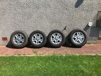"""4 Land Rover 16"""" alloys and tyres"""