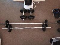 brand new weight set