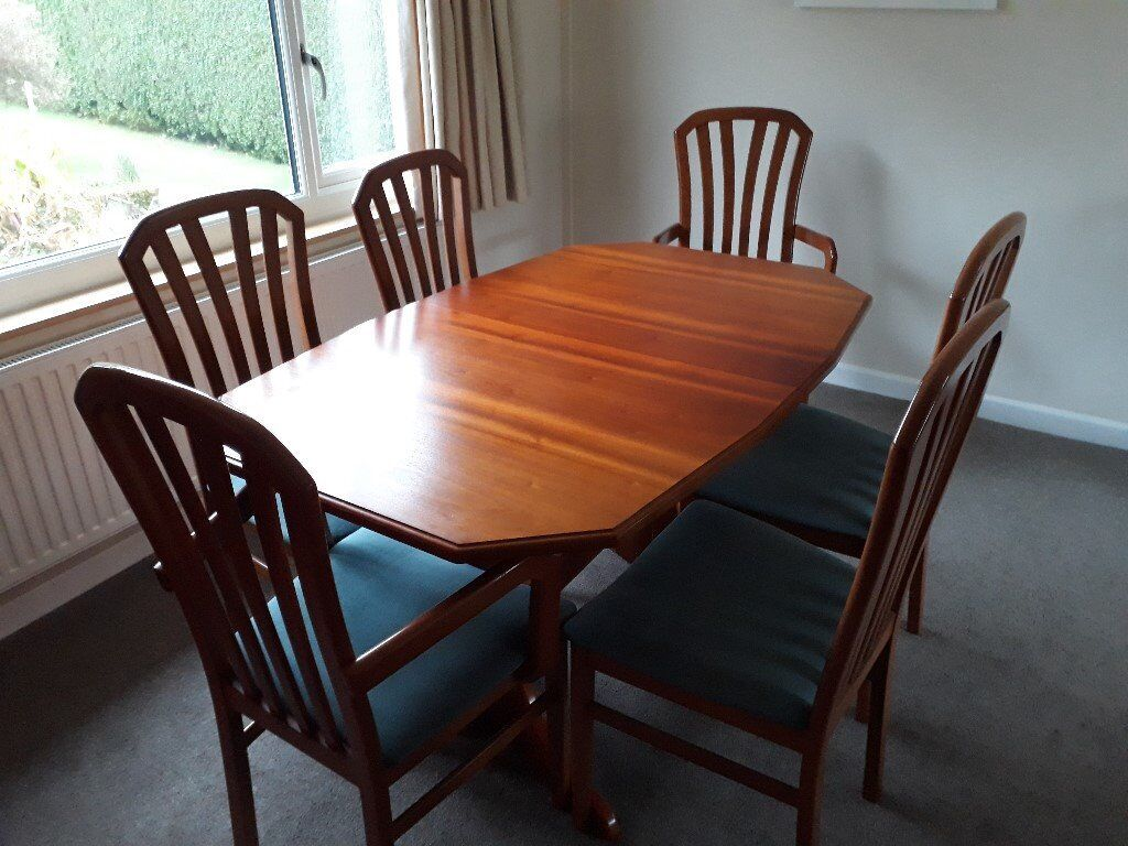 Mahogany Dining Table And 7 Chairs For Sale