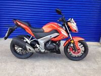 IMMACULATE 2015 KYMCO CK1 125 NAKED SPORTS BIKE , HPI CLEAR JUST 160 MILES