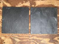 Black slate floor tiles, 30x30cm 10mm thick, 6.3sqm coverage £50