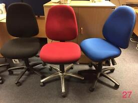 Assorted office computer desk chairs, all colours