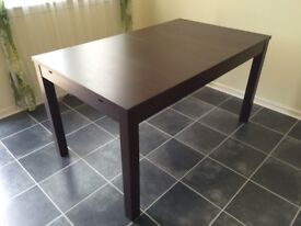 Expandable Dining Table - Dark Wood