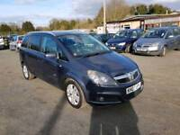 Zafira Design 1.8L 5DR long mot service history excellent condition 7 seater