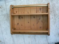 Spice rack wooden with rail