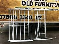 white metel double bed frame