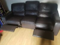 3 sofas one is a boubel rcliner