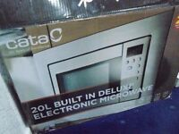 Cata Built In 800W Microwave - stainless steel finish