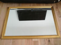 Large Wall Mirror with Wooden Frame
