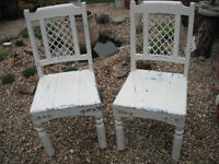 2 Solid Dining Chairs