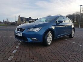 2013 Seat Leon SE 1.6tdi Manual Metallic Blue Full Dealer Service History £0 tax 55mpg audi bmw vw