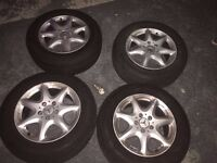 4x mercedes alloys and michelin tyres