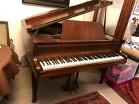 Rogers mahogany baby grand piano - good condition