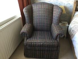 Large high backed chair