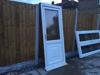 UPVC DOOR WHITE WITH GLASS DOOR LOCK
