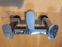 Mixer bath tap - separate hot & cold tap.