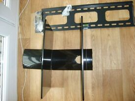 Von Haus TV Wall fixing system with two shelves for set top boxes etc.