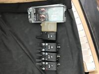 3 x Delkim Plus TXi with RX Pro Receiver Hard Cases and Carbon Snag Ears
