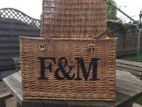 Fortum & Mason Wicker Hamper Basket