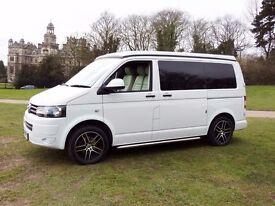 VW T5 Campervan, Air Con, Floor Slide Rails, Bike Storage, Full Warranty + AA Cover. New Conversion