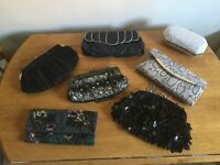 Selection of clutch bags evening and day some never used