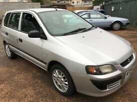 Mitsubishi Space Star Mirage1299cc Petrol 5 speed manual 5 door hatchback 04 Plate 30/04/2004 Silver