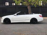 Diamond pearlescent White E350 convertible