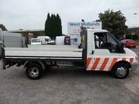 06 PLATE FORD TRANSIT 90T350 10 FOOT 6 INCH ALLOY DROPSIDE WITH RATCLIFFE 500KG ALLOY TAILIFT
