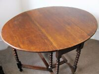 Antique Drop Leaf Oval Table