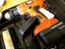 Black and Decker 14.4 Drill. Never Used