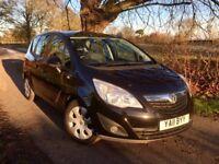 2011 Vauxhall Meriva 1.4 Exclusiv, Metallic Black, FSH, 58,000 Miles, Price inc Full MOT
