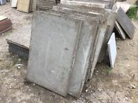Reclaimed Paving Slabs 900x600x50 Ideal Shedbase