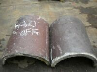 Reclaimed roof ridge tiles Lots available Rosemarys Brindles Staffordshire blues