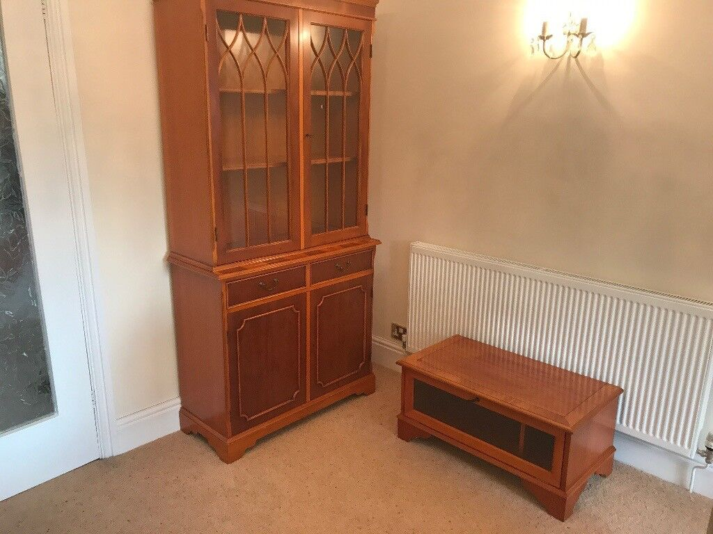 1Display cabinets 1 Video television stand in Yew