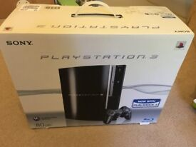 Play station 3 excellent condition with games in original box