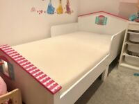 Gorgeous & immaculate girls junior/toddler bed, with or w/out mattress