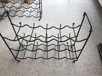 Auriol plastic coated metal wine rack VGC 3 racks each holds 15 bottles ( wall / floor mounted)